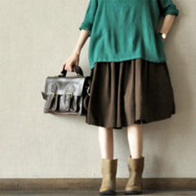 Laden Sie das Bild in den Galerie-Viewer, Summer cotton skirts casual loose oversize cotton linen skirts