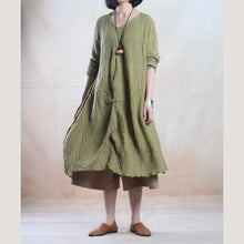 Laden Sie das Bild in den Galerie-Viewer, Tea green linen dress spring maxi dresses