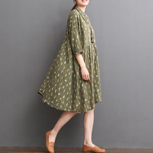 Load image into Gallery viewer, Tea green maternity dress for summer cotton plus size sundress