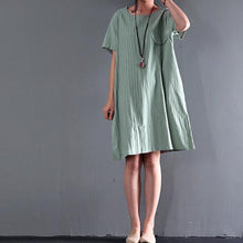 Load image into Gallery viewer, Top quality  light green linen sundress causal plus size summer shift dresses