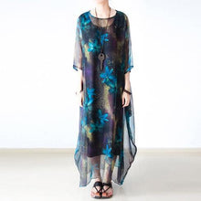 Load image into Gallery viewer, Two pieces flowy chiffon maxi dress plus size sundresses