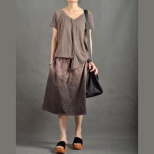 Laden Sie das Bild in den Galerie-Viewer, Unique Gradient brown sundress maxi dresses