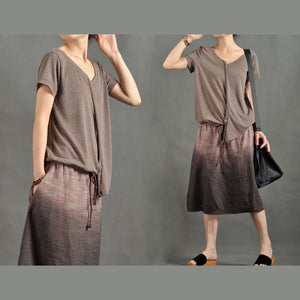 Unique Gradient brown sundress maxi dresses