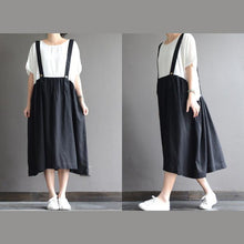 Load image into Gallery viewer, Vintage classic white strap dress summer dress false two pieces