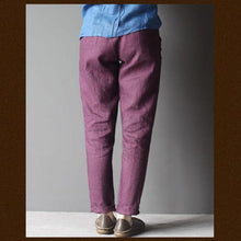 Load image into Gallery viewer, Violet women linen trousers pants