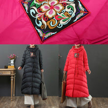 Load image into Gallery viewer, Warm red duck down coat plus size thick down jacket hooded top quality winter outwear