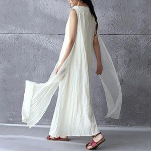 White flowy linen maxi dress sunderss holiday summer dresses