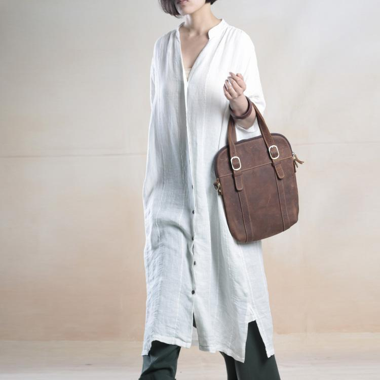 White linen shirt dress long summer maxi dresses caftans