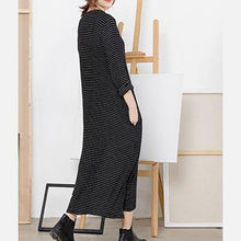 Load image into Gallery viewer, Winter Sweater knit top pattern Design o neck side open black Tejidos knitwear