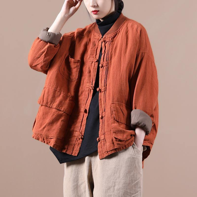 Luxury Spring Pocket Retro Coat