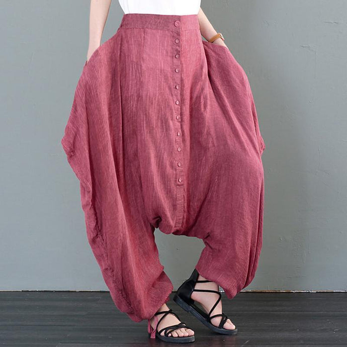 Women Casual Female Loose Solid Personality Cross-Pants Harem Pants