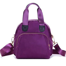 Load image into Gallery viewer, Women Nylon Casual Handbag Shoulder Bag Purple Crossbody Bags