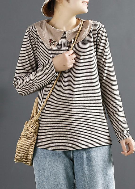 Women Spring Clothes For Gray Striped Fashion Ideas Tops
