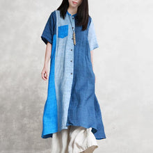 Load image into Gallery viewer, Women linen outfit Boho Summer Half Sleeve Color Matching Outerwear