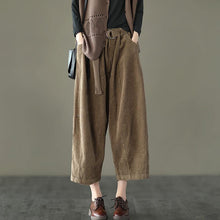 Load image into Gallery viewer, Casual Pocket Corduroy DIY Pants Plus size