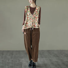 Load image into Gallery viewer, Unique Floral Print Knit Sleeveless Blouse Top