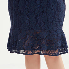 Load image into Gallery viewer, Women Elegant Lace Mini Dress With Bell Sleeve