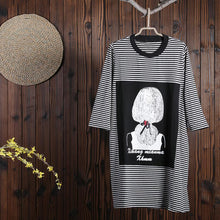 Laden Sie das Bild in den Galerie-Viewer, Women Spring Above Knee Cartoon Pullover Loose Long Sleeve Casual Dress
