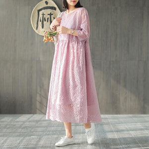 Women Spring Embroidery Vintage Loose Two Piece Set