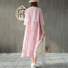 Load image into Gallery viewer, Women Spring Embroidery Vintage Loose Two Piece Set