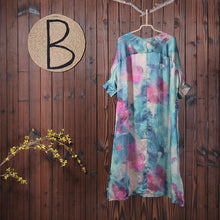 Load image into Gallery viewer, Women Spring Floral Print Chiffon Dress