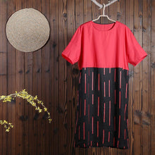 Load image into Gallery viewer, Women Summer Casual Other Mid-Calf Pullover Loose Short Sleeve Dress