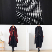 Load image into Gallery viewer, Women's sweater knitted stitching plus size outer cover