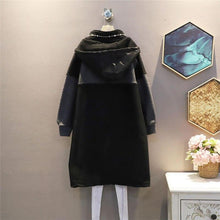 Load image into Gallery viewer, Patchwork Pockets Zipper Dress Women 2 New Style Temperament All Match Hooded Collar Dress