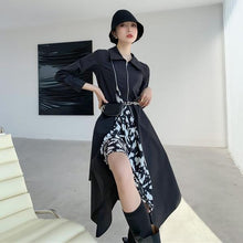 Load image into Gallery viewer, Casual Fashion Women Autumn and Winter New Black Loose Personality All-match
