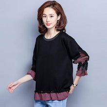 Load image into Gallery viewer, Plus Size Women Autumn Long Sleeve Casual Sweatshirt Two Pieces Female Pullovers Hoodies
