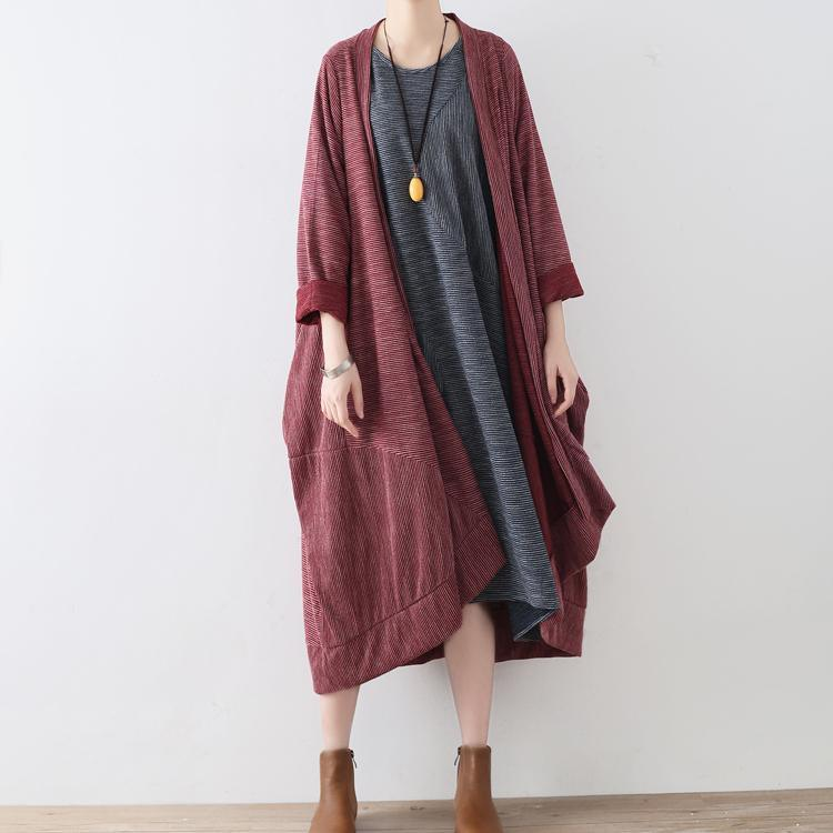 autumn new warm cotton cardigans plus size casual batwing sleeve trench coats