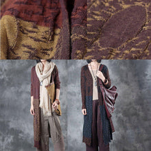 Load image into Gallery viewer, autumn outfits 2017 linen patchwork cardigans oversize casual wrap sweater coat