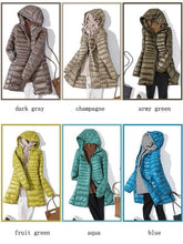 Load image into Gallery viewer, 7XL Winter Woman Padded Hooded Long Jacket