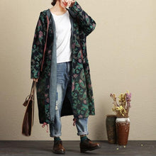 Load image into Gallery viewer, Johnature New Autumn Casual Hooded Lacing Single Breasted Women Coat 2020 Vintage Pockets