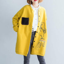 Load image into Gallery viewer, Autumn Winter Women Casual Long Jackets Print Loose Ladies Thick Warm Cotton Coats