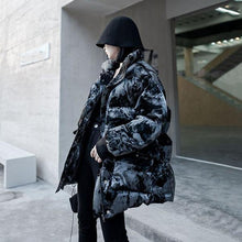 Load image into Gallery viewer, Winter New Print Parka Women Stand Collar Loose Fashion Keep Warm Short Parka Coat Simplicity Street Trendy