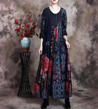 Load image into Gallery viewer, Women Loose Printed Dress Ladies Wrinkle Plus Size Dress