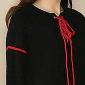 baggy black Loose fitting V neck drawstring traveling dress 2018 long sleeve pockets wool caftans