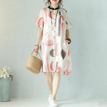 Load image into Gallery viewer, baggy summer dress Loose fitting Casual Printing Loose Summer Short Sleeve Dress
