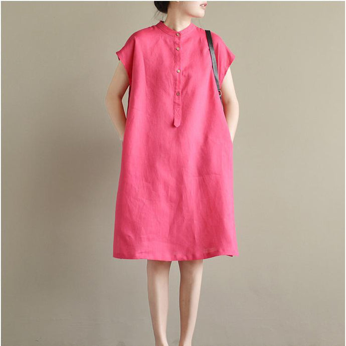 baggy loose linen dresses plu size casual dresses short sleeve maternity dress