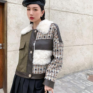 Women 2020 Winter Casual Fashion New Style Temperament All Match Jacket