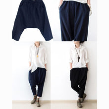 Load image into Gallery viewer, black New haram pants oversize casual linen trousers crop pants