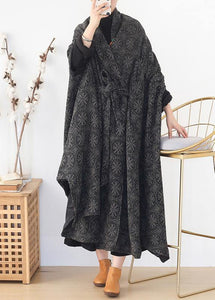 boutique  plus size clothing Jackets & Coats cloak women coats asymmetric wild wool coat