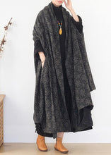 Load image into Gallery viewer, boutique  plus size clothing Jackets & Coats cloak women coats asymmetric wild wool coat