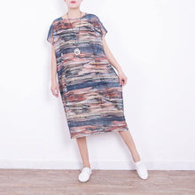 Load image into Gallery viewer, boutique prints blended caftans plus size o neck blended clothing dress 2018short sleeve caftans