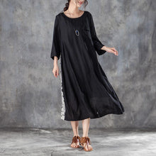 Load image into Gallery viewer, boutique silk linen sundress plus size Women Loose Stylish Dress Casual with Pocket