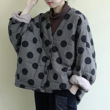 Load image into Gallery viewer, V-Neck Bat Sleeve Warm Coats 2020 Autumn New Button Loose Female Clothes Casual Parkas Coats