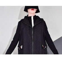 Load image into Gallery viewer, Winter Embroidery Trendy Fashion New Hooded Collar Long Sleeve Elegant Loose Pocket