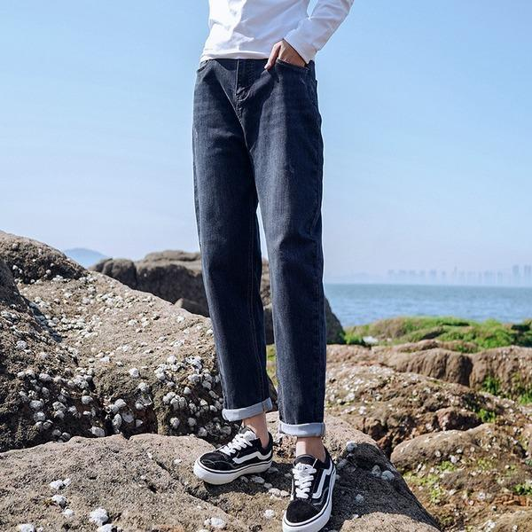 Women Denim Harem Pants High Waist Button Fly Trouser 2020 Autumn New Elasticity Pockets Female Casual Pants
