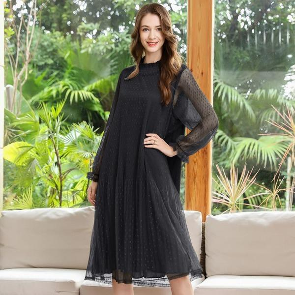 Women 2021 Spring Casual Fashion New Style Temperament All Match Women Dress